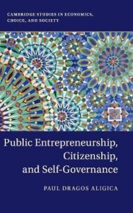 Public Entrepreneurship, Citizenship, and Self-Governance (Cambridge University Press)